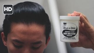 Black & White Hair Dressing Pomade Review -- Amazing for the Money