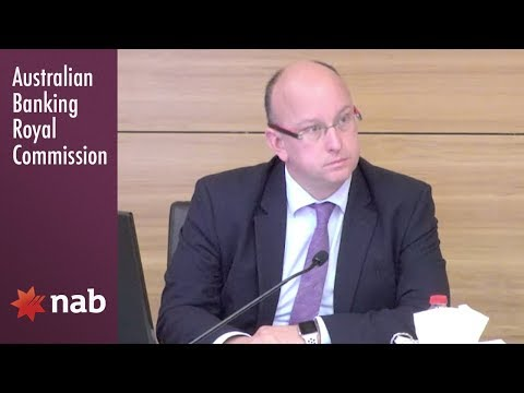 NAB's strategic services general manager testifies at the Banking Royal Commission (4.10)