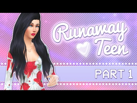 Let's Play The Sims 4: Runaway Teen Challenge | Part 1 - So Homeless