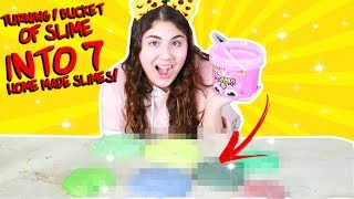 I MADE 7 SLIMES OUT OF 1 BUCKET OF STORE BOUGHT SLIME!