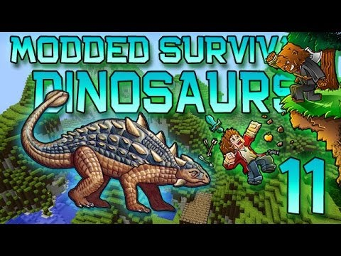 Minecraft: Modded Dinosaur Survival Let's Play W/Mitch! Ep. 11 - HOW ARE THEY ESCAPING! - Smashpipe Games