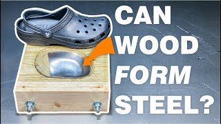 How I made steel toe crocs with wood