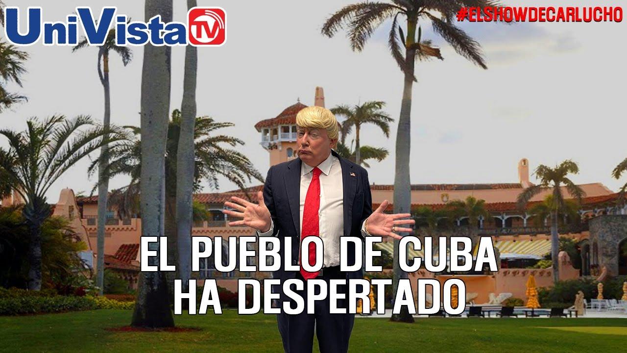 Trump felicita a los cubanos que salieron a la calle gritando