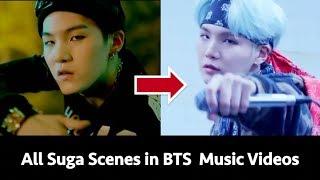 All Suga Scenes In All Korean + English BTS Music Videos