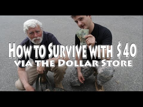 How to Survive with $40 via Dollar Store - KGB Survivalist  - Iczf9lHthac -