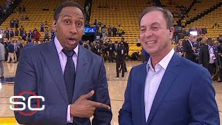 Warriors owner Joe Lacob expects KD to play in NBA Finals, debates Stephen A.'s top 5 players list