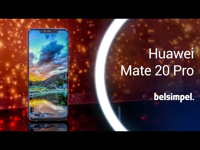Belsimpel.nl-productvideo voor de Huawei Mate 20 Pro Single Sim Blue