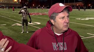 Mike Leach after practice Oct. 30