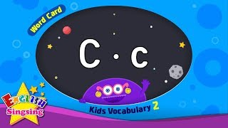 """Kids vocabulary compilation ver.2 - Words Cards starting with C, c - Repeat after """"Ting (sound)"""""""