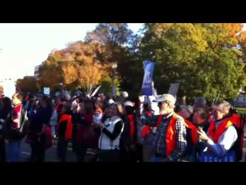 Keystone XL Tar Sands Action demonstration - DC 11.6.11