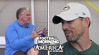 Matt LaFleur explains how much fun it is to coach Aaron Rodgers (FULL INTERVIEW) | NBC Sports