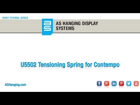Tensioning Spring for Contempo® Wall Track
