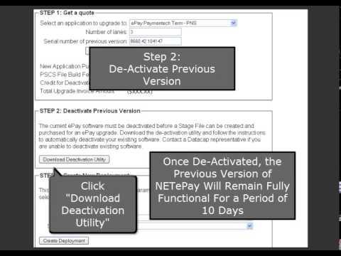 Datacap PSCS Tutorial - Legacy NETePay Upgrade process