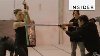 Daisy Ridley Has Master Lightsaber Skills