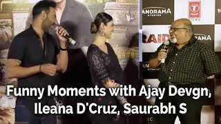 Raid Official Trailer Launch | Funny Moments with Ajay Devgn, Ileana D'Cruz, Saurabh S