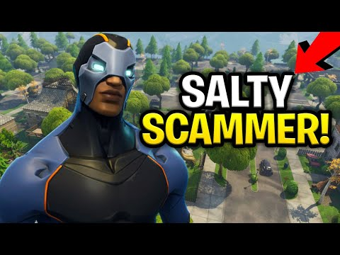 Worlds Saltiest Scammer Scams Himself! for 130s! (Scammer Get Scammed) Fortnite Save The World