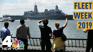 Fleet Week 2019 Kicks Off in NYC With the Parade of Ships | NBC New York