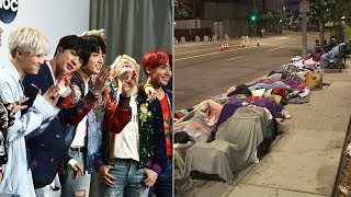 VIDEO: BTS fans camp outside Staples Center ahead of boy band's concert | ABC7