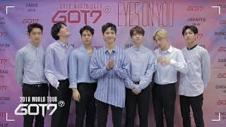 GOT7 2018 WORLD TOUR 'EYES ON YOU' IN TAIPEI - 問候影片 YouTube 影片