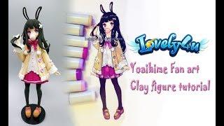 13】How to make anime figure/Yoaihime【Clay Tutorial/ DIY/Lovely4u】
