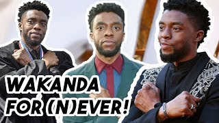 Chadwick Boseman Says He's SICK of the Wakanda Forever Salute for 4 Minutes Straight | Funny Moments