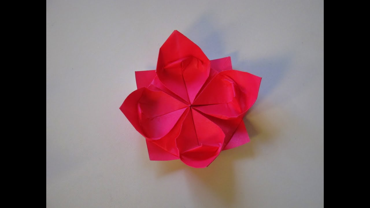 Origami - How to make a Lotus Flower - YouTube - photo#2
