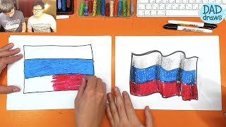 How to draw Flag of Russia