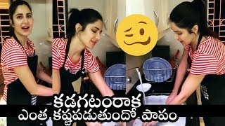 Katrina Kaif washes dishes at home as maid goes into self-..