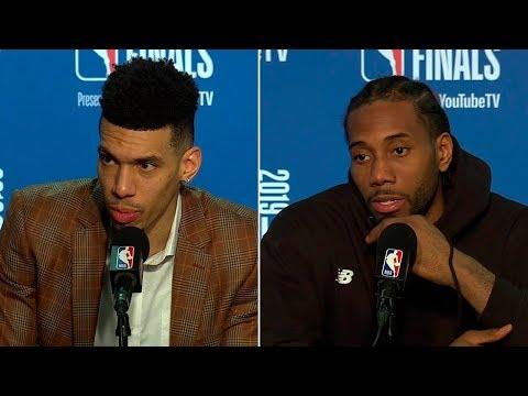 Kawhi Leonard & Danny Green Postgame Interview - Game 3   Raptors vs Warriors   2019 NBA Finals