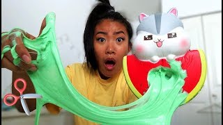 CUTTING MY SQUISHY AND MAKING IT INTO SLIME
