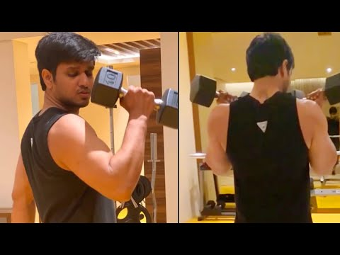 Tollywood actor Nikhil Siddharth's latest gym workout video