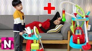 엄마가 아파요! 청소놀이 장난감 세트 뉴욕이랑 놀자 Cleaning Trolley Toy Set NY Toys