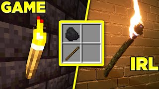Does Minecraft's Torch Recipe work IRL?