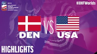 Denmark vs. USA - Game Highlights - #IIHFWorlds 2019