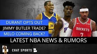 NBA Rumors On Kevin Durant, Jimmy Butler & Rockets, Carmelo Anthony Return & Knicks Free Agency?