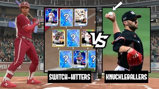 HE HAD A KNUCKLEBALLER!? SWITCH-HITTERS ONLY TEAM BUILD! MLB THE SHOW 19 DIAMOND DYNASTY