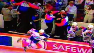 Jets at oilers handshakes 1990 playoffs