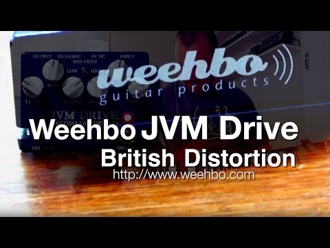 Weehbo: JVM DRIVE British Distortion - DEMO - SG to Laney VH-100R