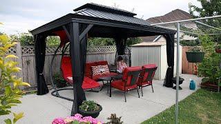 Túp Lều Lý Tưởng, Mơ Ước Của 2 Vợ Chồng 🇨🇦327》 Building Gazebos In Backyard | Vườn Rau Việt Canada