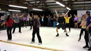 Disney on Ice rehearsing on EZ Glide 350 Synthetic Ice.
