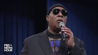 WATCH: Stevie Wonder pays tribute to Aretha Franklin at her 'Celebration of Life' memorial