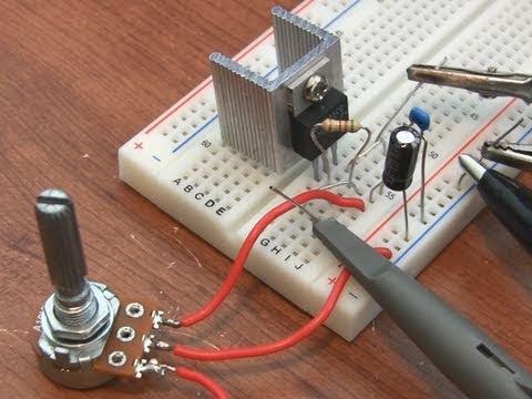 Lm317 Adjustable Voltage Regulator Tutorial Youtube