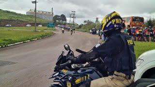 PRF realiza a escolta da 13ª Volta Ciclística de Vacaria