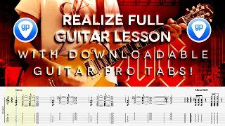 AC/DC - Realize Full Guitar Tutorial WITH SOLO & GUITAR PRO TABS