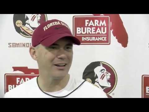 FSU head football coach Mike Norvell on first practice in pads, dealing with coronavirus situation