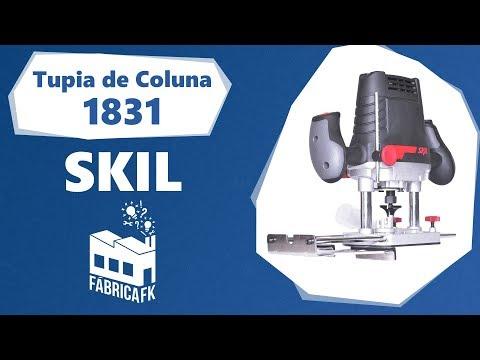 Tupia de Coluna 1100 W Com 13 Acessórios 1831 Skil 220 V - Vídeo explicativo