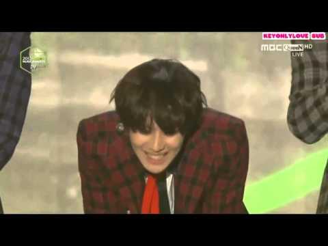 【日本語字幕】131114 SHINee 受賞コメント@Melon Music Award