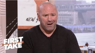 Dana White calls out Oscar De La Hoya for lying in ESPN interview | First Take