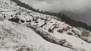 Snow fall in Auli Joshimath