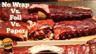 Ribs Experiment - Should You Wrap? Not Wrap? Foil? Paper? - Smoked Ribs Competition - Everyday BBQ